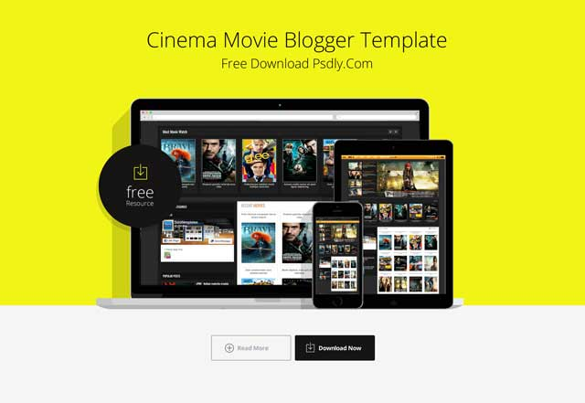 Cinema Movie Blogger Template