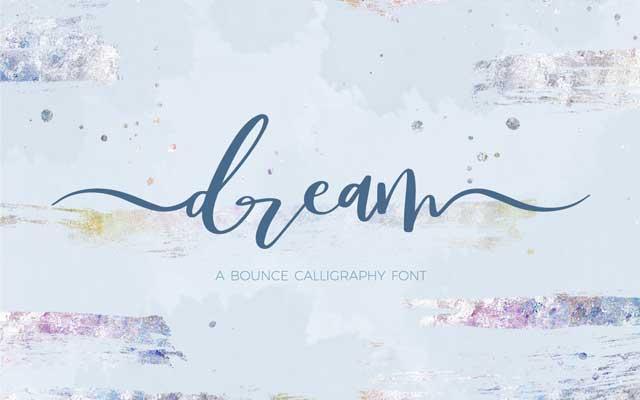 Deam Bounce Calligraphy Font