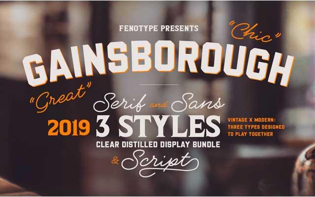 Gainsborough Font Family Download