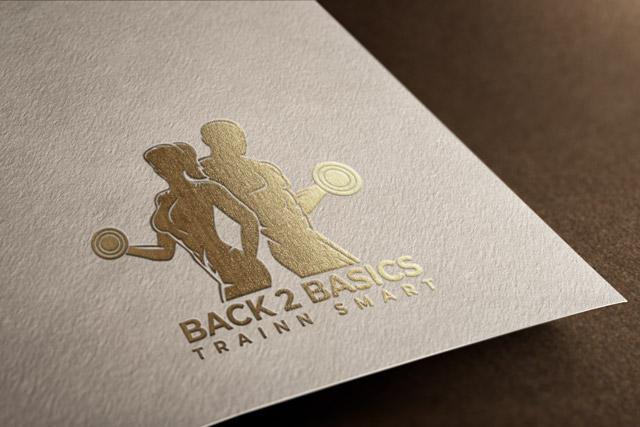 Gold Foil Logo Mockup PSD