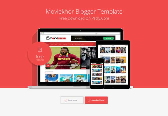 Moviekhor Blogger Template