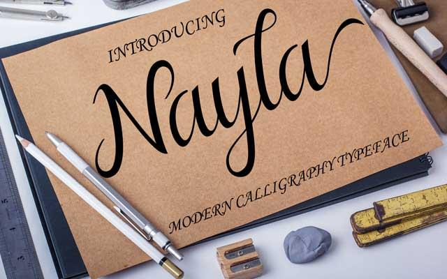 Nayla Calligraphy Font