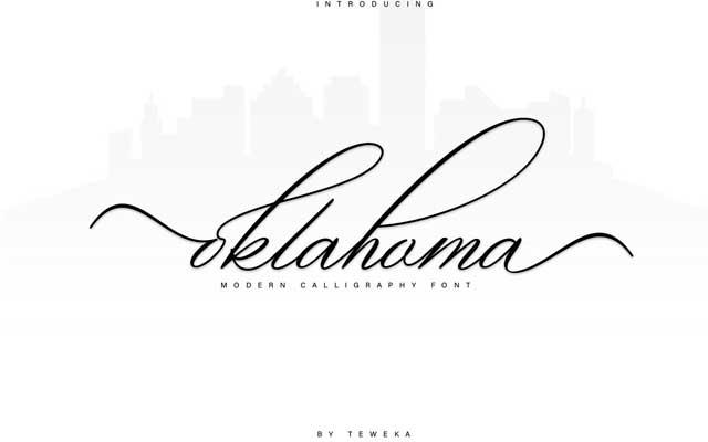 Oklahoma Calligraphy Font