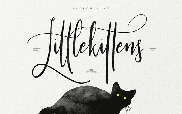 Little Kittens Brush Calligraphy Font