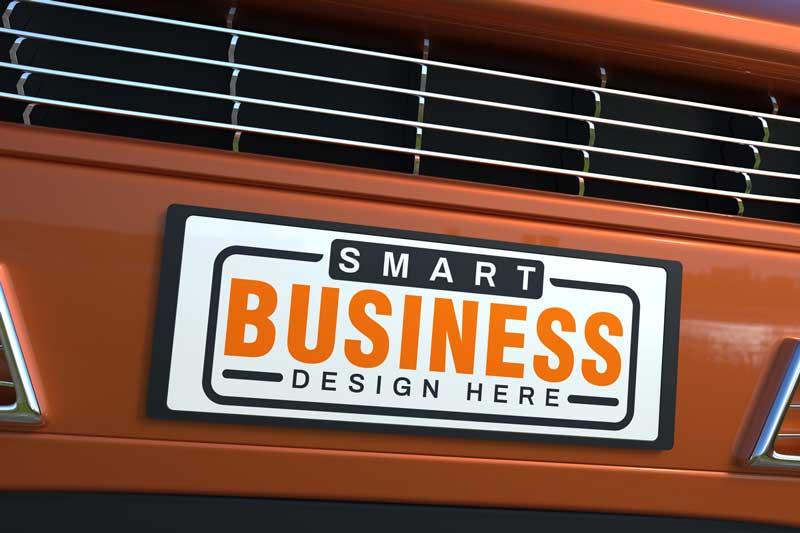 Car-Plate-Logo-Mockup