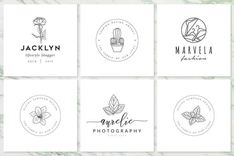 Feminine Branding Premade Logos V02