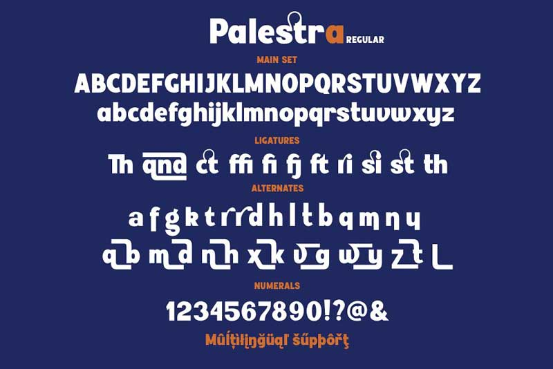 Palestra font Family By Larin Type Co