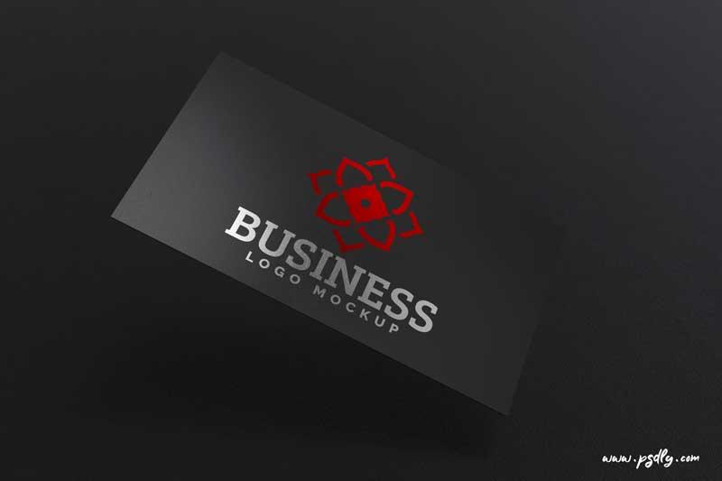 Black and Color Business Card Logo Mockup