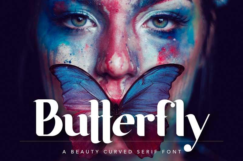 Butterfly Beauty Font 389756