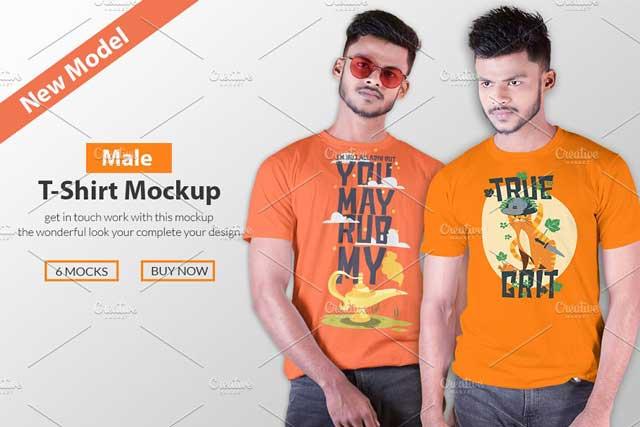 Male t-shirt Mockup-V-2-001