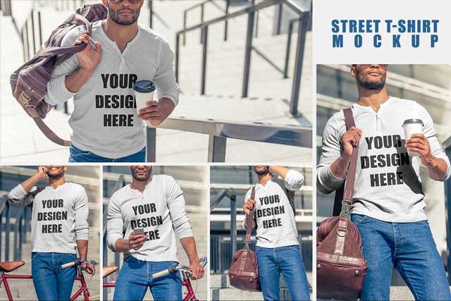 Street T shirt MockUp