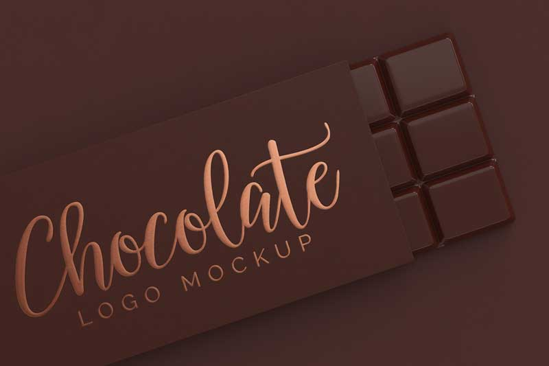 Chocolate Logo Mockup