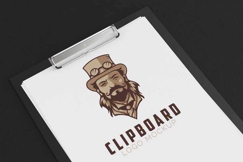Clipboard Logo Mockup