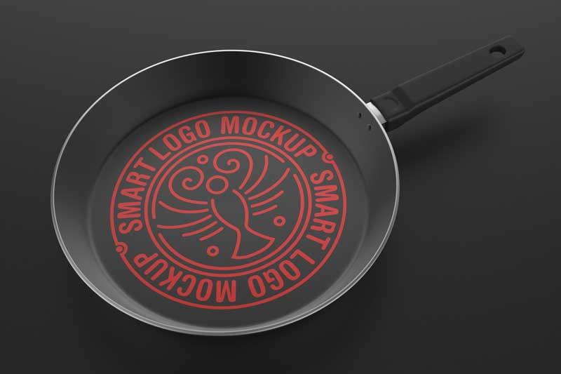 Cooking Pan Logo Mockup