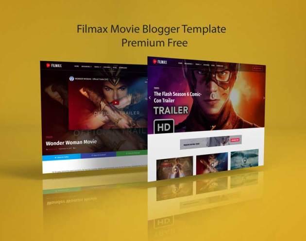 Filmax Movie Blogger Template Premium Free