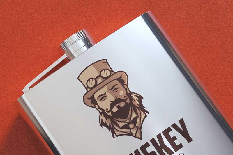Flask Logo Mockup
