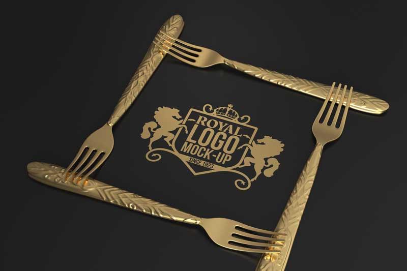 Forks Logo Mockup