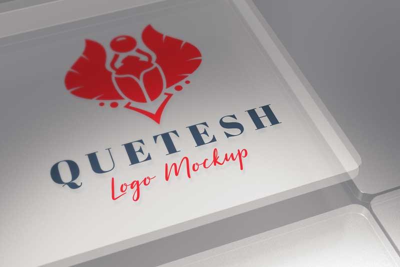 Glass Logo Mockup