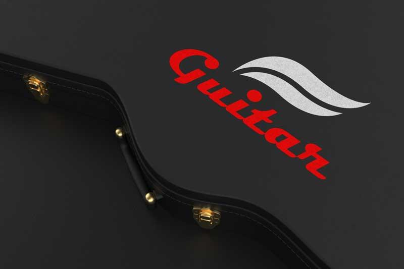 Guitar Case Logo Mockup