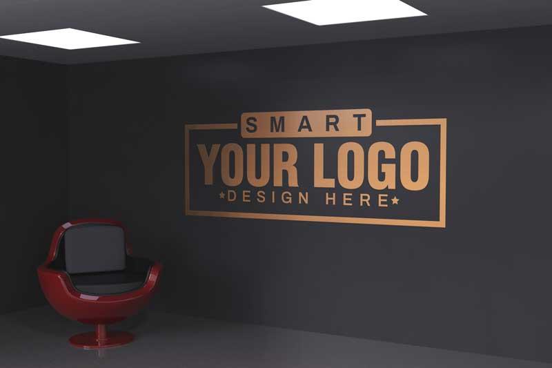 Logo Mockup Office Wall, Table