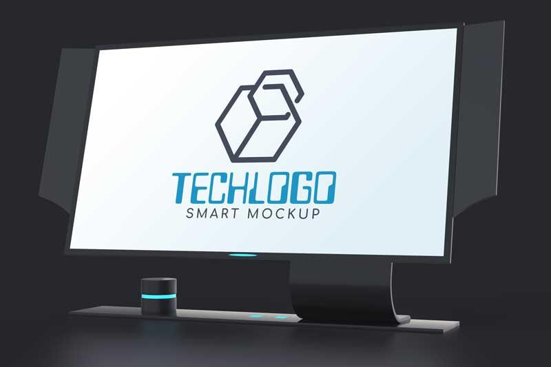 Monitor Logo Mockup