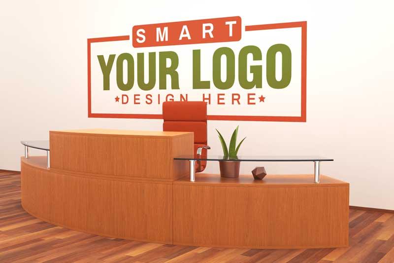 Office Interior Logo Mockup
