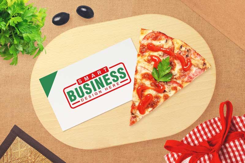 Pizza Logo Mockup