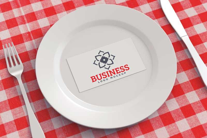 Plate Logo Mockup