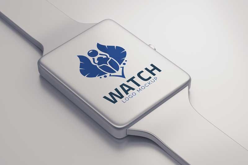 Smart Watch Logo Mockup
