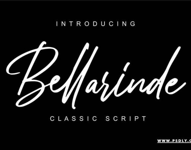 Bellarinde Handwritten Script Font 4434067