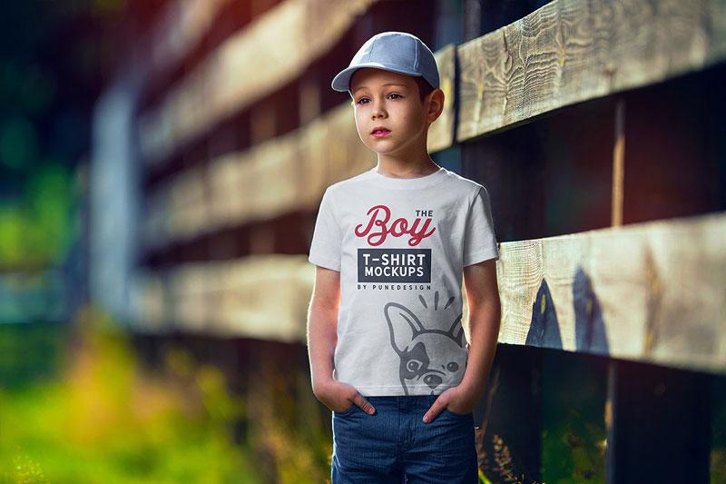 Boy T Shirt Mock Up Set 1