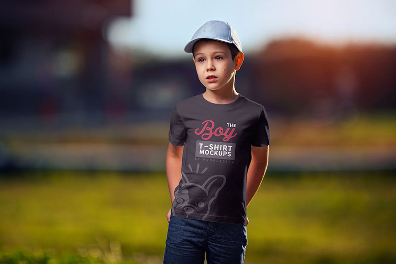 Boy T Shirt Mock Up Set 2