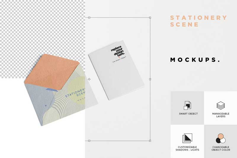 Creativemarket 3 Stationery Mockup Scenes