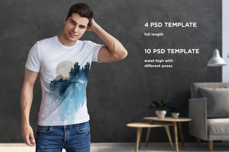 Isolated T Shirt Mock Up 3