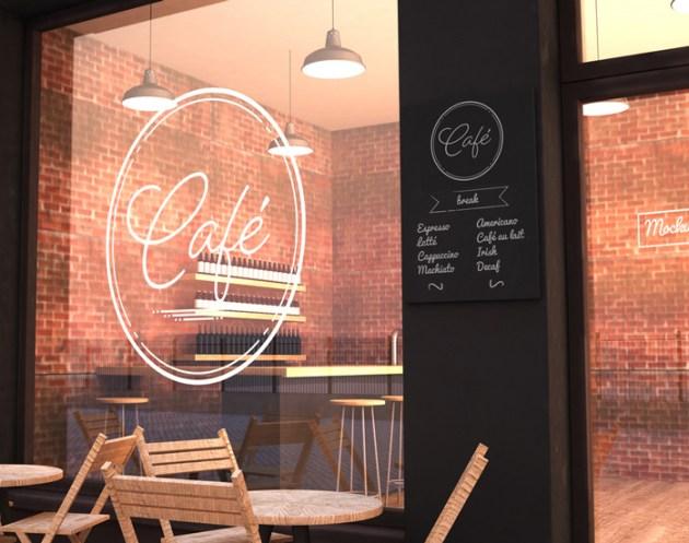 Outdoor Cafe Mockup