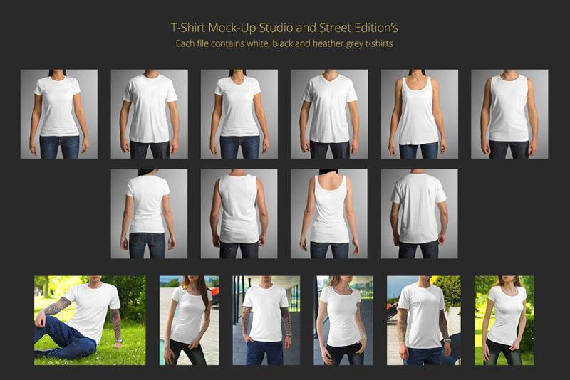 T Shirt Mock Up Set 4 1