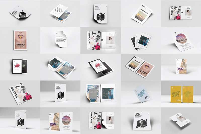 50 Flyer Poster Mockups Pack Free Download Link