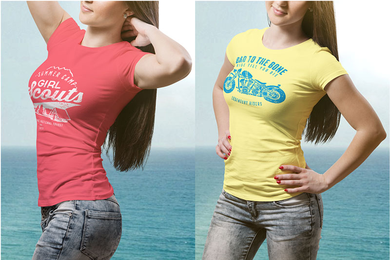 Best Female PSD T shirt Mockup For Portfolio Presentaion 1