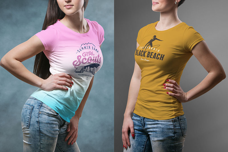 Best Female PSD T shirt Mockup For Portfolio Presentaion 3