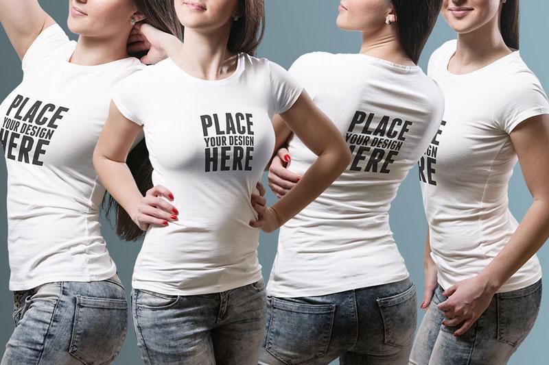 Best Female PSD T shirt Mockup For Portfolio Presentaion 4
