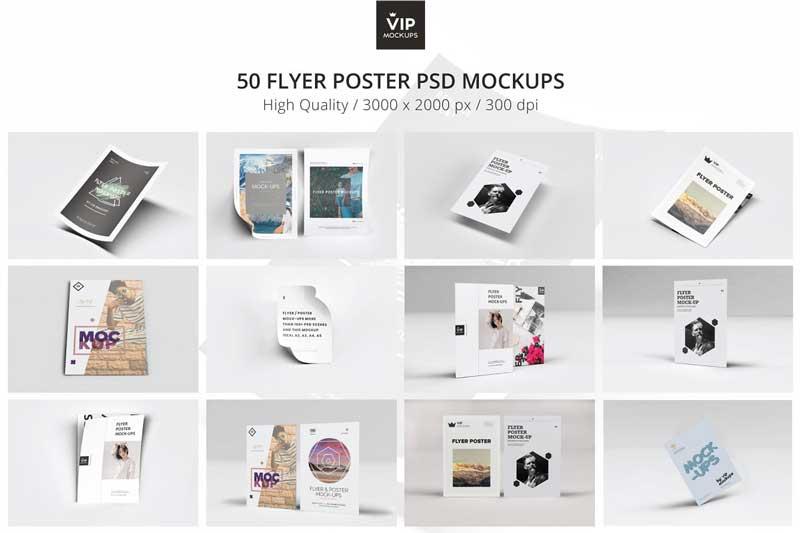 Creativemarket 50 Flyer Poster Mockups Pack