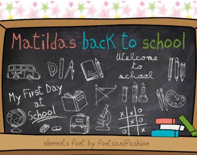 Matildas Back to School Font Free Download