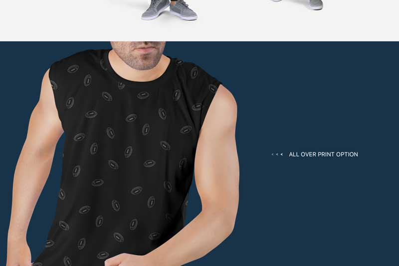 Men2527s Sleeveless Shirt Mockup Set 5