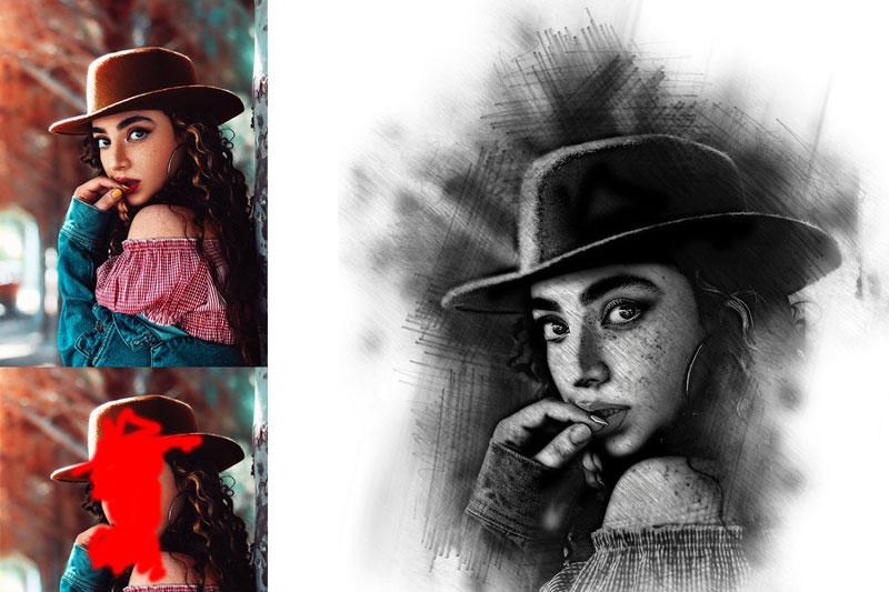 Pencil Sketch Photoshop Action 1