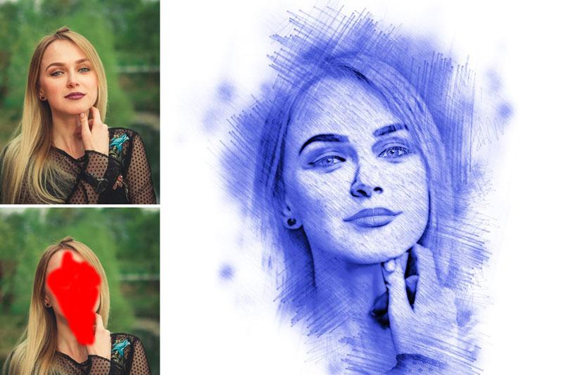 Pencil Sketch Photoshop Action 3