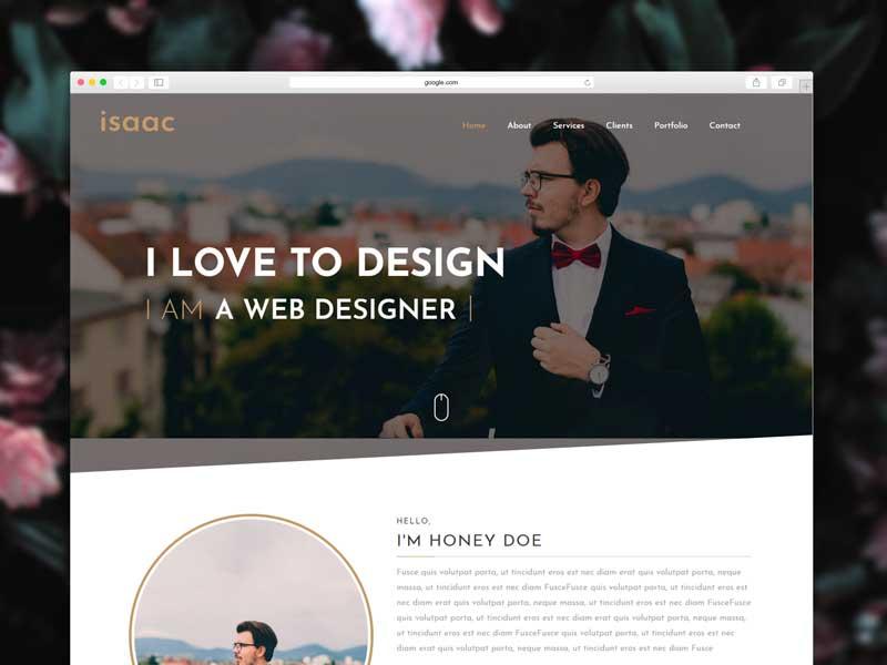 portfolio blogger template free