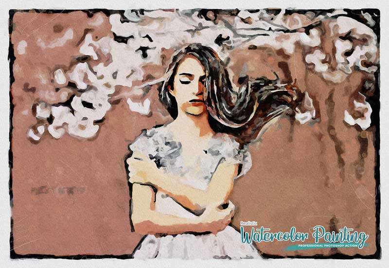 Realistic Watercolor Painting Photoshop Action Free Download