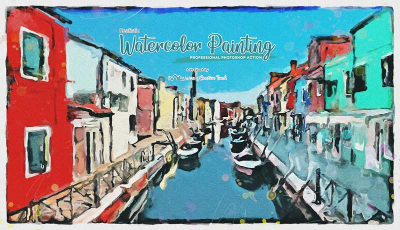 Realistic Watercolor Painting Photoshop Action