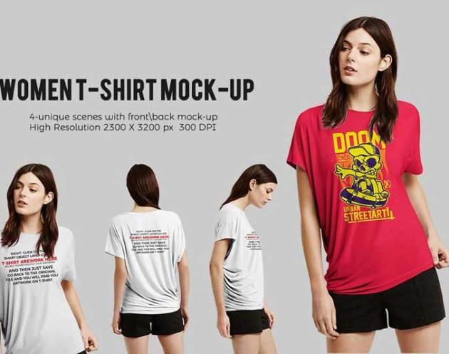 Women T shirt Mock up 1761134