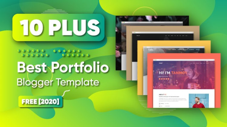 best portfolio blogger templates